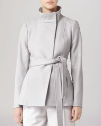 Reiss Jacket Hermitage Belted Wool - Lyst