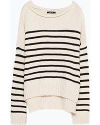 Zara Sailor Striped Knit - Lyst