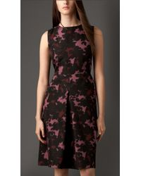 Burberry Sculptural Silk Dress - Lyst
