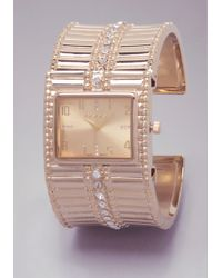 Bebe - Stone Cuff Watch - Lyst