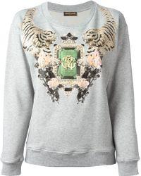 Roberto Cavalli Jewel Print Sweatshirt - Lyst