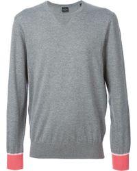 Paul Smith Contrast Cuffs Sweater - Lyst