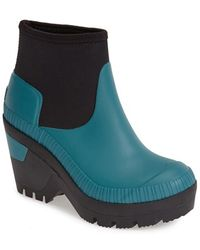 Hunter Original Deep Sea Wedge Bootie - Lyst