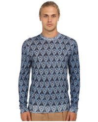 Marc Jacobs Peacock Print Crewneck Sweater - Lyst