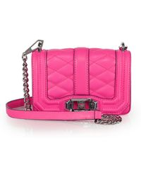 Rebecca Minkoff Mini Quilted Love Crossbody Bag - Lyst