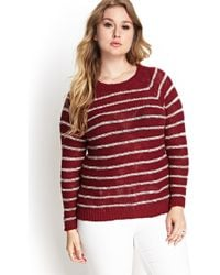 Forever 21 Striped Raglan Sweater - Lyst