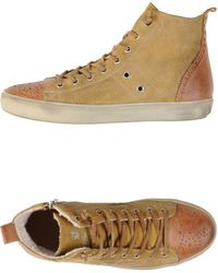 Leather Crown High-Tops & Trainers orange - Lyst