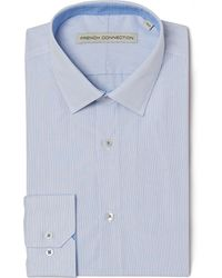 French Connection Tailored Fit Single Cuff Fine Stripe Shirt - Lyst