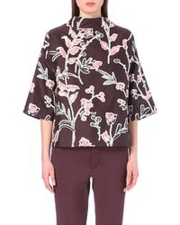 Marni Floral-Print Blouse - For Women - Lyst
