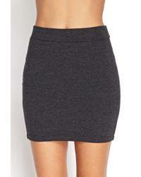 Forever 21 Stretch Knit Mini Skirt - Lyst