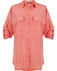 Tibi | Parachute Silk Relaxed Utility Blouse | Lyst