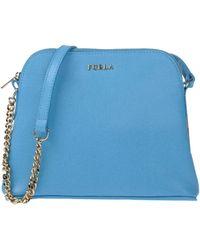 Furla Under-Arm Bags blue - Lyst