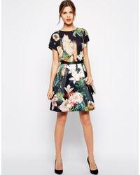 Ted Baker Skirt in Opulent Bloom Print - Lyst