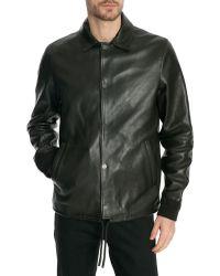 Acne Studios Tony Black Leather Jacket - Lyst