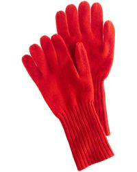 J.Crew Red Cashmere Gloves - Lyst