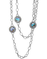"""Lagos - Sterling Silver Maya Abalone Doublet Necklace, 36"""" - Lyst"""