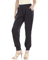 Catherine Malandrino Black Monica Silk Jogger Pants black - Lyst