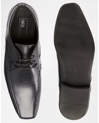 Asos Wingtip Shoes In Leather - Lyst