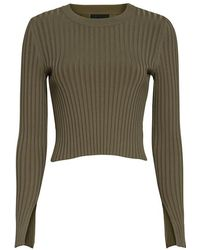 Exclusive For Intermix - Ribbed Crewneck: Olive - Lyst