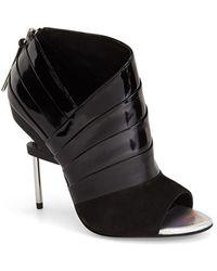 L.A.M.B. | 'elastic' Open Toe Sandal | Lyst