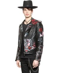 HTC Hollywood Trading Company - Hand-Painted Biker Jacket - Lyst