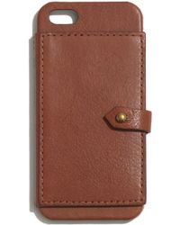 Madewell - Leather Wallet Case For Iphone&Reg; 5/5S - Lyst