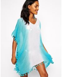 Seafolly Blue Splendour Caftan - Lyst