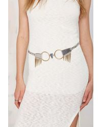 Nasty Gal | Luv Aj The Kennedy Silver And Gold Belt | Lyst