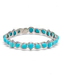 Elizabeth Showers Turquoise-Station Teardrop Bracelet - Lyst