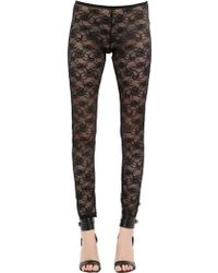 Blumarine Techno Lace Leggings - Lyst
