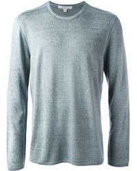 John Varvatos Round Neck Sweater - Lyst