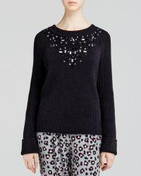 Kate Spade Tokyo Grid Ribbed Sweater Bloomingdales Exclusive - Lyst
