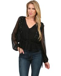 Free People Midnight Shimmer Blouse - Lyst