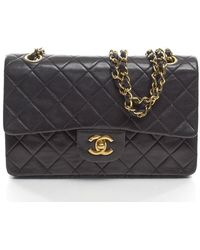 Chanel Preowned Vintage Lambskin Small Double Flap Bag - Lyst