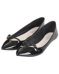 Topshop Voltage Pointed Flats - Lyst