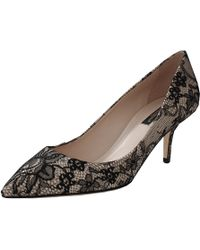 Dolce & Gabbana Pump With Lace Overlay - Lyst