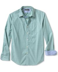 Banana Republic Tailored Slim Fit Soft Wash Micro Stripe Shirt Ultra Marine - Lyst