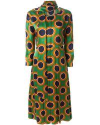 DSquared² Circle-Print Silk Dress - Lyst