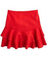 J.Crew Flounce Skirt in Bonded Wool - Lyst