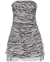 Jay Ahr Short Dress gray - Lyst