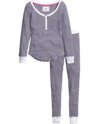 H&M Gray Jersey Pyjamas - Lyst