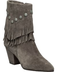 Belle By Sigerson Morrison | Yardley Vigona Fringed Suede Ankle Boots | Lyst