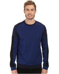 Calvin Klein Long Sleeve Crew Neck Light Weight Sweatshirt - Lyst