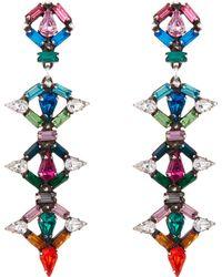 DANNIJO - Kosma Multicoloured Long Drop Earrings - Lyst