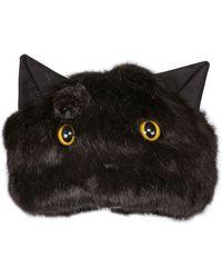 Urbancode - Faux Fur Hat With Cat Ears & Eyes - Lyst