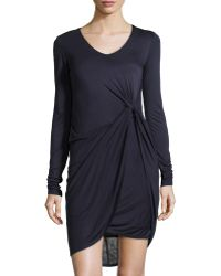 Muse - Knotted Knit Jersey Dress - Lyst