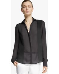 Halston Voile Shirt - Lyst