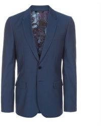 Paul Smith Blue Wool-Mohair Two-Button Blazer - Lyst