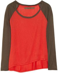 Enza Costa Colorblock Jersey Top - Lyst