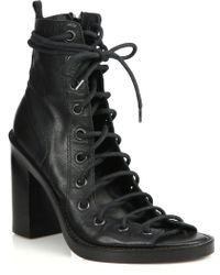 Ann Demeulemeester   Lace-up Leather Sandals   Lyst